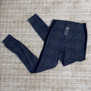 Abercrombie & Fitch NWT plaid tuxedo leggings